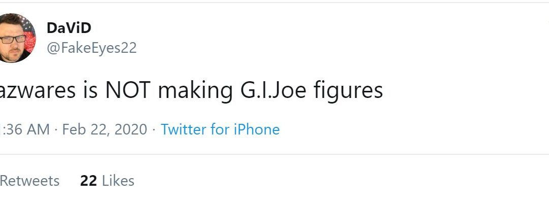 New report – Jazwares is not making G.I. Joe figures
